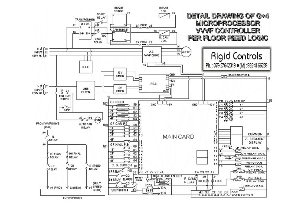 Circuit Drawings | G+4 Microprocessor VVVF & Standard Reed Logic ...